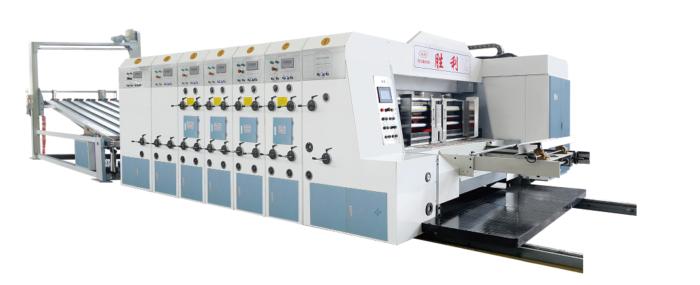 GYK910/1270 Flexo Printing Machine with Slotter Die Cutter-180 Pics/min